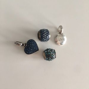 Brighton Blue Glitter Bracelet Charms